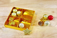 Chrismas toy decorations Royalty Free Stock Photography
