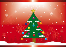 Chrismas tree. A background for a christmas card or poster royalty free illustration