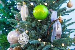 Chrismas tree and ball. Stock Images
