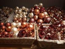 Chrismas tree decirations. Orange christmas decorations Royalty Free Stock Photos