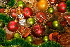 Chrismas-tree Decorations Stock Images