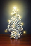 Chrismas tree with lights Royalty Free Stock Photography
