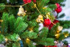 Chrismas tree and red ball. Stock Photo