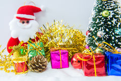 Chrismas tree and red ball. Royalty Free Stock Image