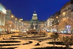 Chrismas w Praga Obraz Royalty Free