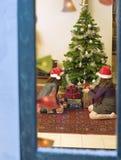 Chrismas window Stock Photography