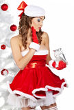Chrismas woman Royalty Free Stock Photos