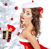 Chrismas woman Stock Images