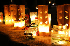 Chrismas xmas candles Royalty Free Stock Images