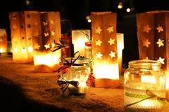 Chrismas xmas candles Royalty Free Stock Images