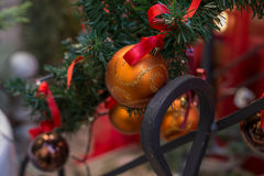 Chrismtas decorations background Stock Image
