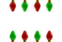Chrismtas Lights. Red and green Christmas lights Stock Images