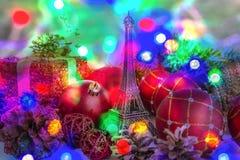Chrismtas y Año Nuevo en París Fotografía de archivo