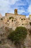 Chrisoskalitisa修道院的看法  免版税库存照片