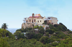Chrisoskalitsa monastery at Crete island Stock Images