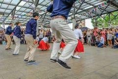 Chrisp Street, London, UK - July 16, 2017: Dance demonstration a Stock Images