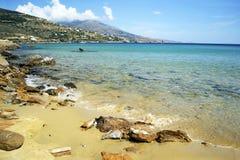 Chrissi弹药海滩在希腊 图库摄影