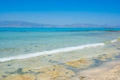 Chrissi wyspy Crete plaża Zdjęcie Royalty Free