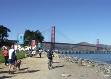 Chrissy Field, San Francisco, Califórnia foto de stock