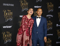 Chrissy Teigen et John Legend Images stock