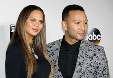 Chrissy Teigen and John Legend Stock Photo