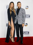 Chrissy Teigen and John Legend. At the 2016 American Music Awards held at the Microsoft Theater in Los Angeles, USA on November 20, 2016 Royalty Free Stock Image