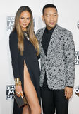 Chrissy Teigen and John Legend. At the 2016 American Music Awards held at the Microsoft Theater in Los Angeles, USA on November 20, 2016 Stock Photos