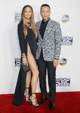 Chrissy Teigen and John Legend. At the 2016 American Music Awards held at the Microsoft Theater in Los Angeles, USA on November 20, 2016 Stock Photo