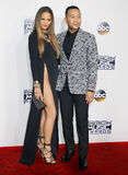 Chrissy Teigen and John Legend. At the 2016 American Music Awards held at the Microsoft Theater in Los Angeles, USA on November 20, 2016 Stock Photography