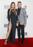 Chrissy Teigen and John Legend. At the 2016 American Music Awards held at the Microsoft Theater in Los Angeles, USA on November 20, 2016 Royalty Free Stock Images