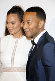 Chrissy Teigen and John Legend. At the Art of Elysium Celebrating the 10th Anniversary held at the Red Studios in Los Angeles, USA on January 7, 2017 Royalty Free Stock Photo