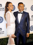 Chrissy Teigen and John Legend. At the Art of Elysium Celebrating the 10th Anniversary held at the Red Studios in Los Angeles, USA on January 7, 2017 Royalty Free Stock Photography
