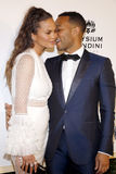 Chrissy Teigen and John Legend. At the Art of Elysium Celebrating the 10th Anniversary held at the Red Studios in Los Angeles, USA on January 7, 2017 Stock Photo