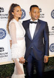 Chrissy Teigen and John Legend. At the Art of Elysium Celebrating the 10th Anniversary held at the Red Studios in Los Angeles, USA on January 7, 2017 Stock Image