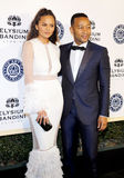 Chrissy Teigen and John Legend. At the Art of Elysium Celebrating the 10th Anniversary held at the Red Studios in Los Angeles, USA on January 7, 2017 Royalty Free Stock Images