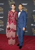 Chrissy Teigen and John Legend. At the Los Angeles premiere of `Beauty And The Beast` held at the El Capitan Theatre in Hollywood, USA on March 2, 2017 Royalty Free Stock Image