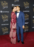 Chrissy Teigen and John Legend. At the Los Angeles premiere of `Beauty And The Beast` held at the El Capitan Theatre in Hollywood, USA on March 2, 2017 Stock Photo