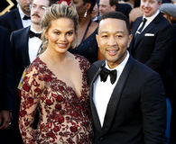 Chrissy Teigen and John Legend. At the 88th Annual Academy Awards held at the Hollywood & Highland Center in Hollywood, USA on February 28, 2016 Stock Photos