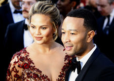 Chrissy Teigen and John Legend. At the 88th Annual Academy Awards held at the Hollywood & Highland Center in Hollywood, USA on February 28, 2016 Royalty Free Stock Images
