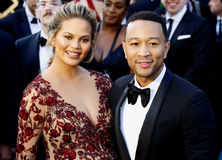 Chrissy Teigen and John Legend. At the 88th Annual Academy Awards held at the Hollywood & Highland Center in Hollywood, USA on February 28, 2016 Stock Photo