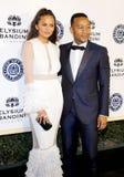 Chrissy Teigen och John Legend royaltyfria bilder