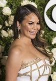 Chrissy Teigen. Supermodel Chrissy Teigen arrives on the red carpet at the 71st Annual Tony Awards held at Radio City Music Hall in New York on June 11, 2017 Stock Photography