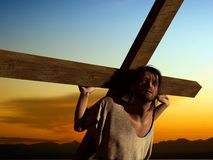 The Christ. On a background of the sky Stock Image