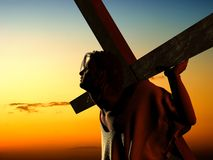 The Christ. On a background of the sky Royalty Free Stock Photo