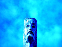 Christ. Statue of the Christ in the Lithuania stock photography