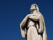 Christ. Statue looking at heavens royalty free stock photography