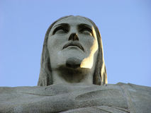 Christ. Detail of the head of the statue of christ - Rio de Janeiro - Brazil Stock Photo