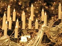 Christ al di sotto delle candele Immagine Stock Libera da Diritti