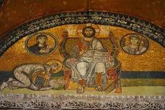 Christ as Pantocrator mosaic stock photos