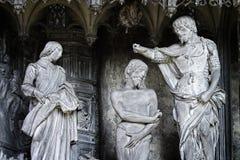 Christ Baptism by St. John Stock Image